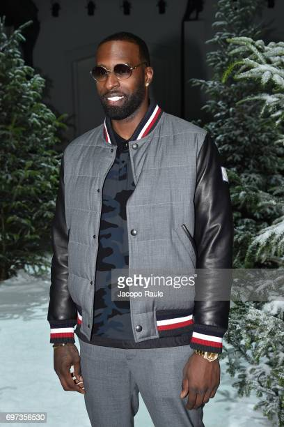 Shabazz Muhammad attends the Moncler Gamme Bleu show during Milan Men's Fashion Week Spring/Summer 2018 on June 18 2017 in Milan Italy