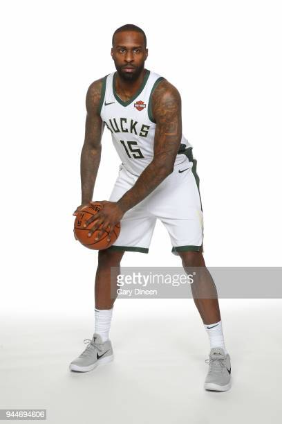 Shabazz Muhammad of the Milwaukee Bucks poses for a portrait at the Froedtert the Medical College of Wisconsin Sports Science Center on April 10 2018...