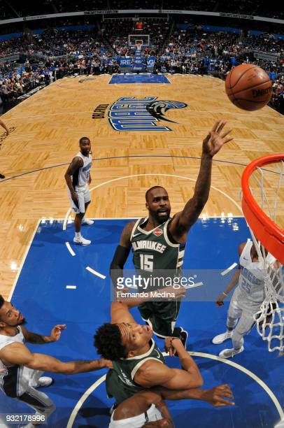 Shabazz Muhammad of the Milwaukee Bucks shoots the ball against the Orlando Magic on March 14 2018 at Amway Center in Orlando Florida NOTE TO USER...