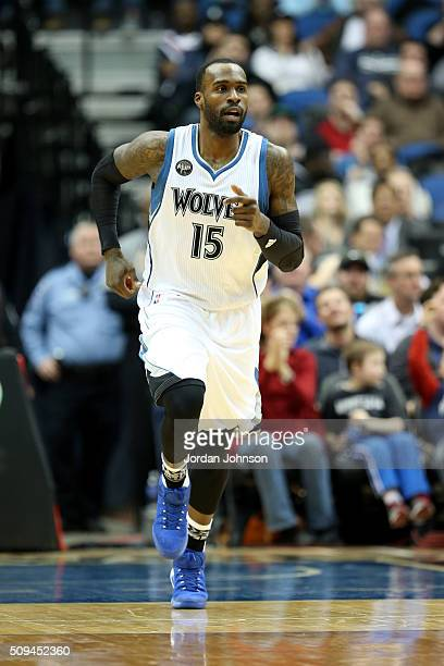 Shabazz Muhammad of the Minnesota Timberwolves during the game against the Toronto Raptors on February 10 2016 at Target Center in Minneapolis...