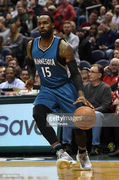 Shabazz Muhammad of the Minnesota Timberwolves handles the ball during a game against the Minnesota Timberwolves at the BMO Harris Bradley Center on...