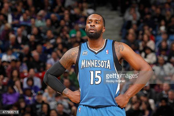 Shabazz Muhammad of the Minnesota Timberwolves in a game against the Sacramento Kings on March 1 2014 at Sleep Train Arena in Sacramento California...