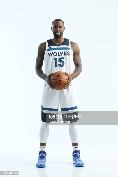 Shabazz Muhammad of the Minnesota Timberwolves poses for portraits during the 2017 Media Day on September 22 2017 at the Minnesota Timberwolves and...