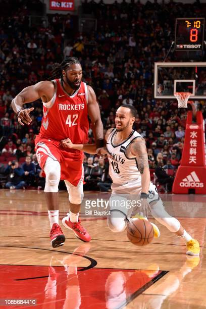 Shabazz Napier of the Brooklyn Nets handles the ball against the Houston Rockets on January 16 2019 at the Toyota Center in Houston Texas NOTE TO...