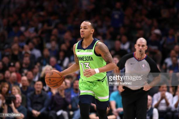 Shabazz Napier of the Minnesota Timberwolves at American Airlines Center on December 04, 2019 in Dallas, Texas. NOTE TO USER: User expressly...