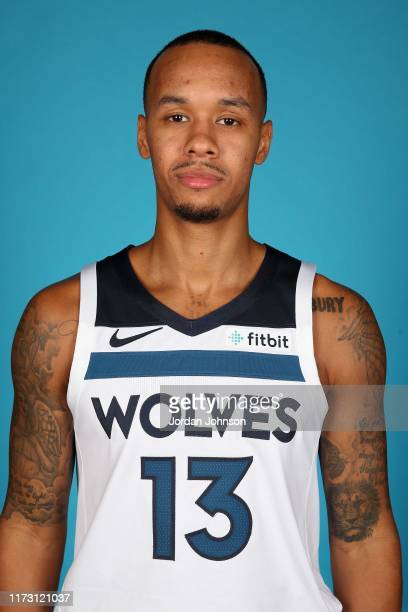 Shabazz Napier of the Minnesota Timberwolves poses for head shot during 2019 Media Day on September 30, 2019 at Target Center in Minneapolis,...