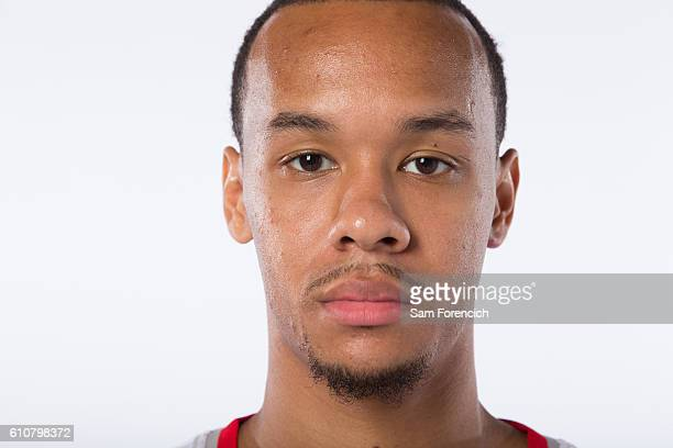 Shabazz Napier of the Portland Trail Blazers poses for a portrait during the 2016-2017 Portland Trail Blazer Media Day September 26, 2016 at the...