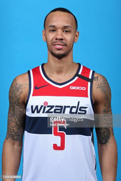 Shabazz Napier of the Washington Wizards poses for a head shot on February 11, 2020 at Capital One Arena in Washington, DC. NOTE TO USER: User...