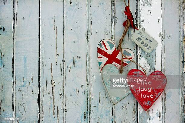 Shabby Brit Chic Hearts
