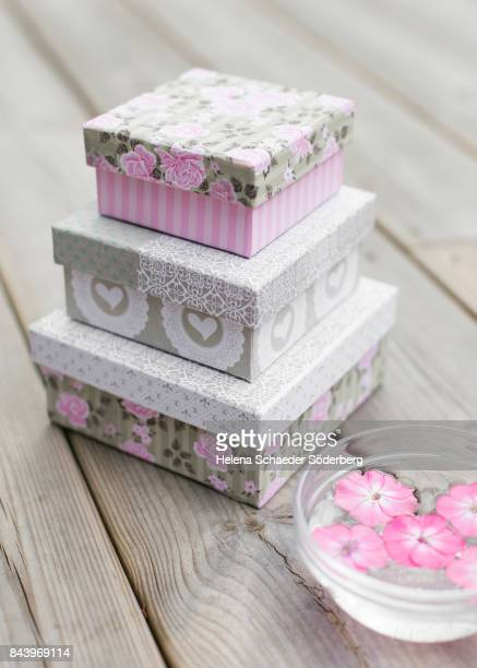 Shabby chic decoupage boxes