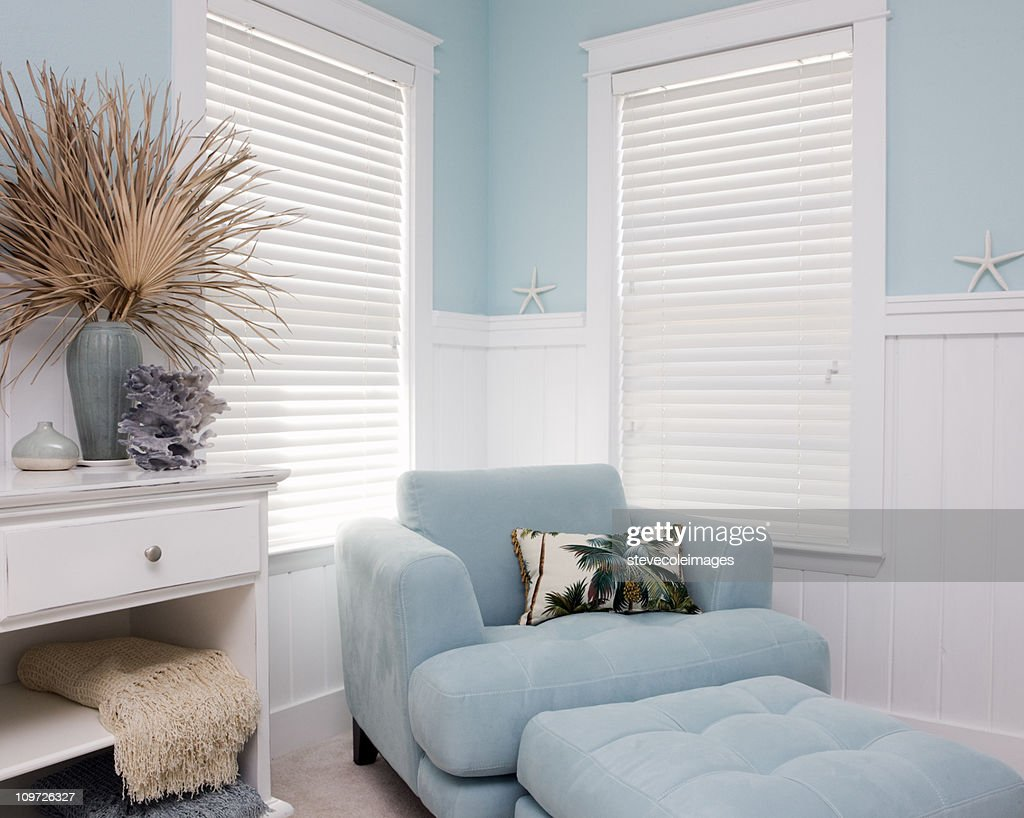 Shabby Chic Interior Decor Of Beach House Stock Photo | Getty Images