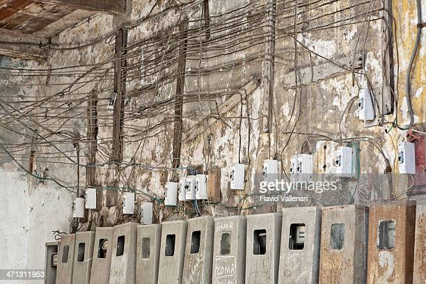 Shabby Electrical System Of Residential Building, Havana