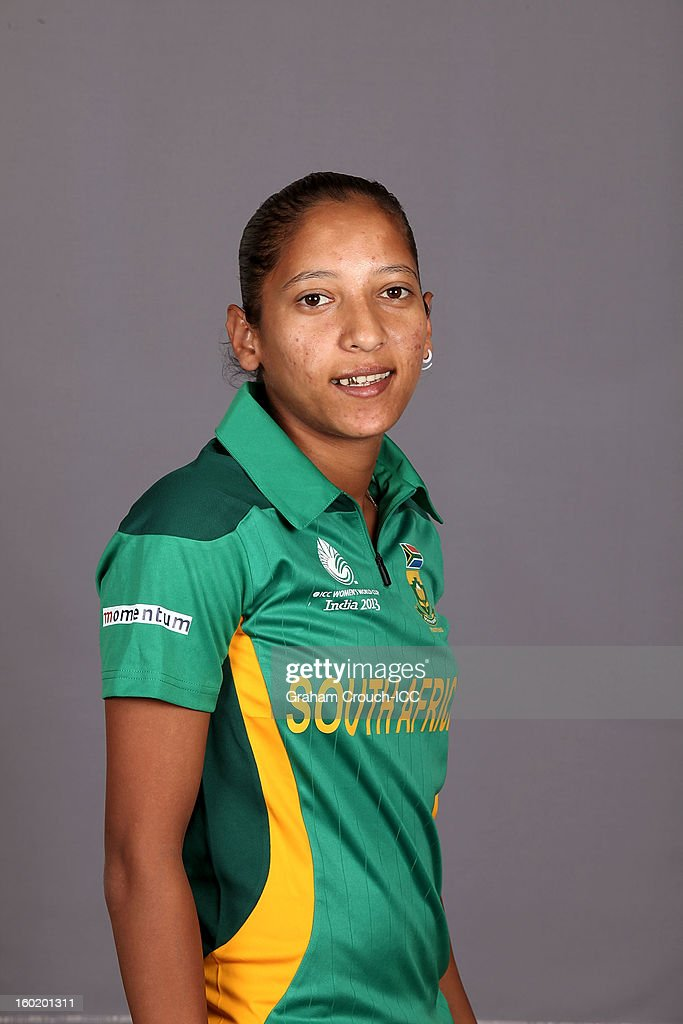 Shabnim Ismail of South Africa poses at a portrait session ahead of the ICC Womens World Cup 2013 at the Taj Mahal Palace Hotel on January 27, 2013 in Mumbai, India.