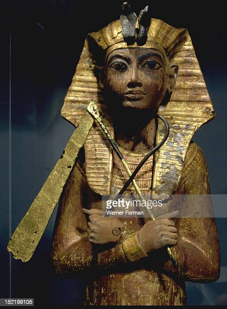 Shabti from the tomb of Tutankhamun The figure carries agricultural implements Egypt Ancient Egyptian 18th dynasty c 1357 1349 BC