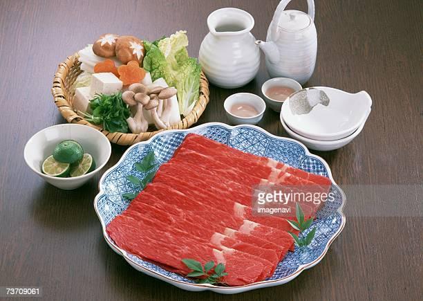 shabu shabu - shimeji mushroom stock pictures, royalty-free photos & images