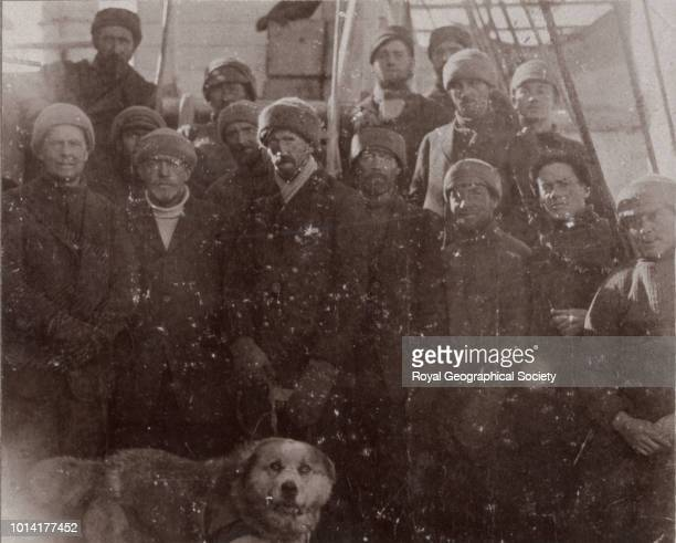 Shackleton and team members from the Aurora Antartica 1913 Imperial TransAntarctic Expedition 19141917