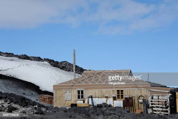 shackleton's nimrod hut - weather balloon stock pictures, royalty-free photos & images