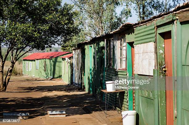 Shacks in an informal settlement, Hartbeespoort, North West Province.