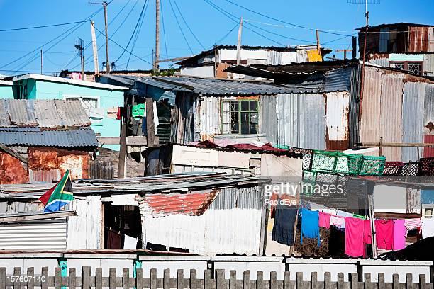 Hütten in Khayelitsha, Kapstadt, Südafrika
