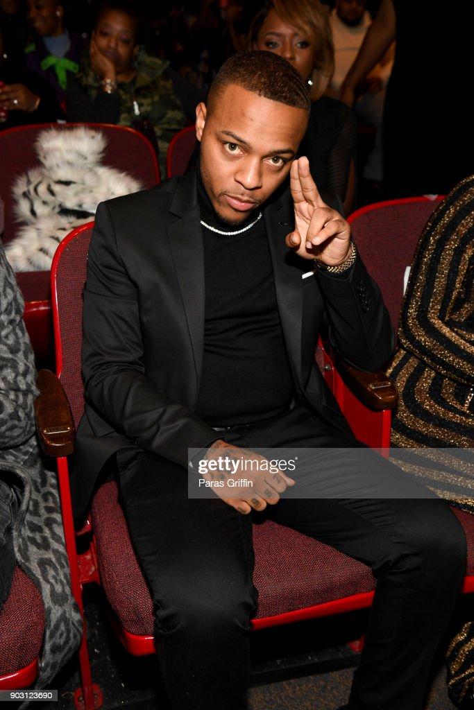 Shad Moss aka Bow Wow attends 'Growing Up Hip Hop Atlanta' season 2 premiere party at Woodruff Arts Center on January 9, 2018 in Atlanta, Georgia.