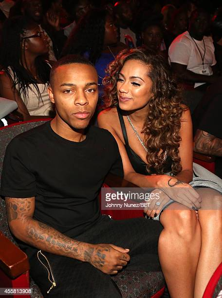 Shad Moss and Erica Mena attend the BET Hip Hop Awards 2014 at Boisfeuillet Jones Atlanta Civic Center on September 20 2014 in Atlanta Georgia