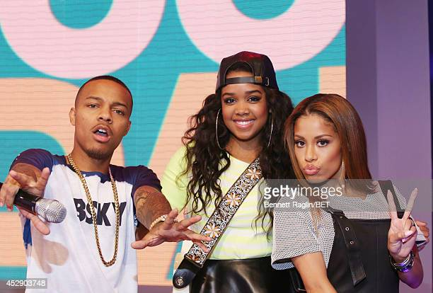 Shad Moss Gabi Wilsonand Keshia Chante attend 106 Park at BET studio on July 28 2014 in New York City