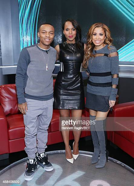 Shad Moss Kerry Washington and Keshia Chante attend 106 Park at BET studio on November 3 2014 in New York City