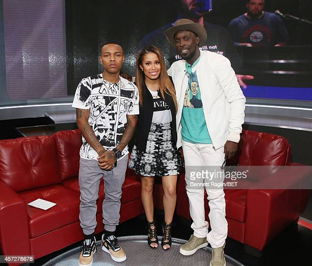 Shad Moss Keshia Chante and Michael Kenneth Williams attend 106 Park at BET studio on October 14 2014 in New York City