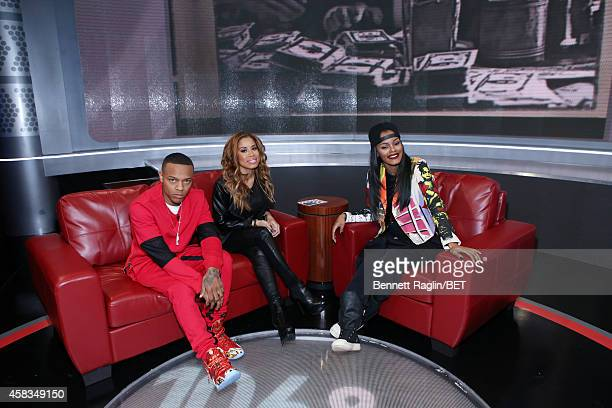 Shad Moss Keshia Chante and Teyana Taylor attend 106 Park on November 3 2014 in New York City