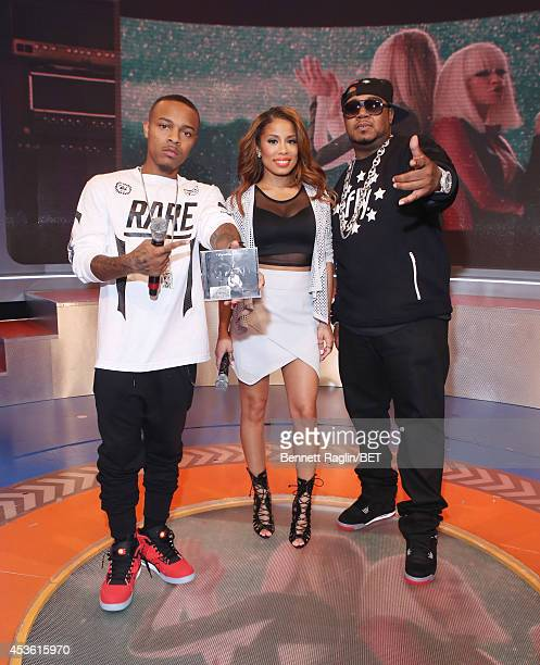 Shad Moss Keshia Chante and Twista attend 106 Park at BET studio on August 13 2014 in New York City