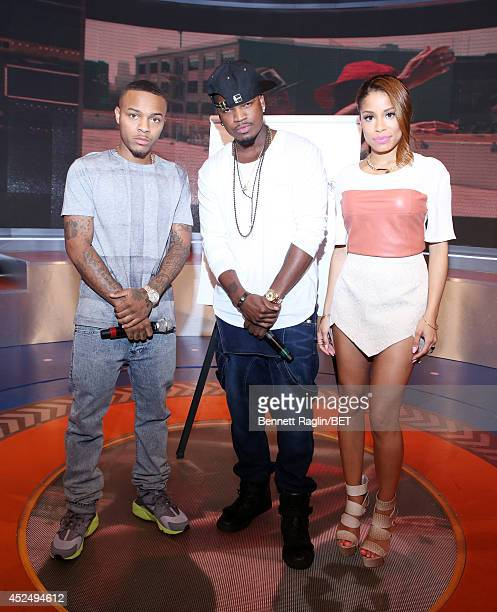 Shad Moss NeYo and Keshia Chante attend 106 Park at BET studio on July 21 2014 in New York City