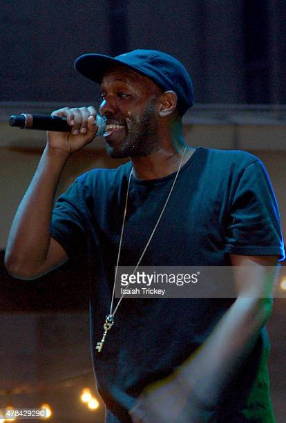 Shad performs at the North By Northeast Music Festival at Yonge Dundas Square on June 21 2015 in Toronto Canada