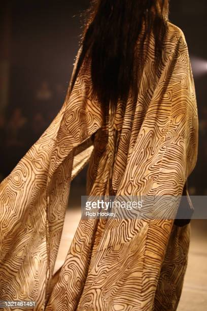 Shadeene Evans walks the runway during the First Nations Fashion + Design show during Afterpay Australian Fashion Week 2021 Resort '22 Collections at...