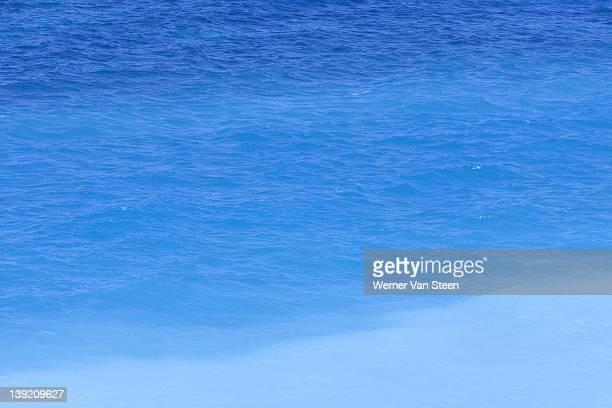shades of blue ocean, rhodos - nature stockfoto's en -beelden
