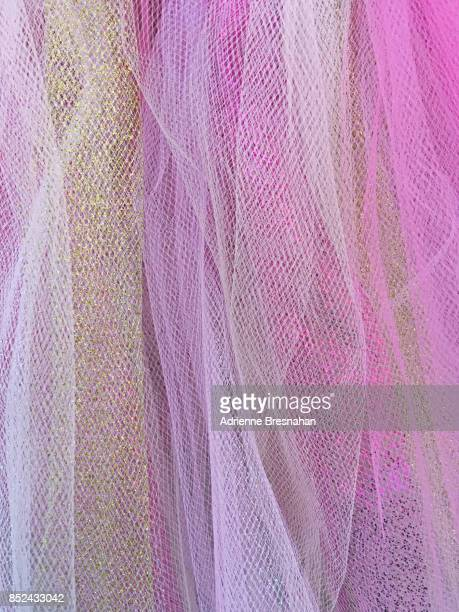 shades of pink tulle netting fabric - sheer fabric stock pictures, royalty-free photos & images