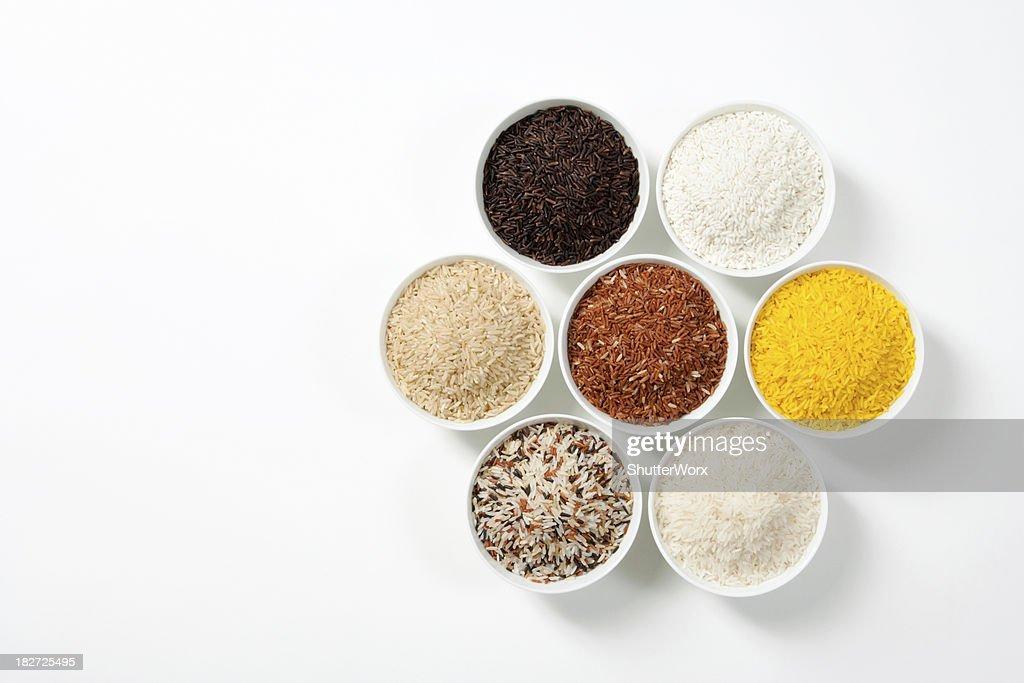 7 tonos de arroz : Foto de stock