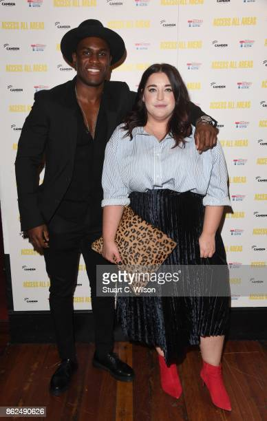 Shadez The Misfit and Danielle Vanier arrive at the 'Access All Areas' VIP gala screening held at Proud Camden on October 17, 2017 in London, England.