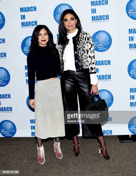 Shadi Mehraein and Rachel Roy Pose at the UNWFPA Annual Awards Luncheon on March 8 2018 in New York City
