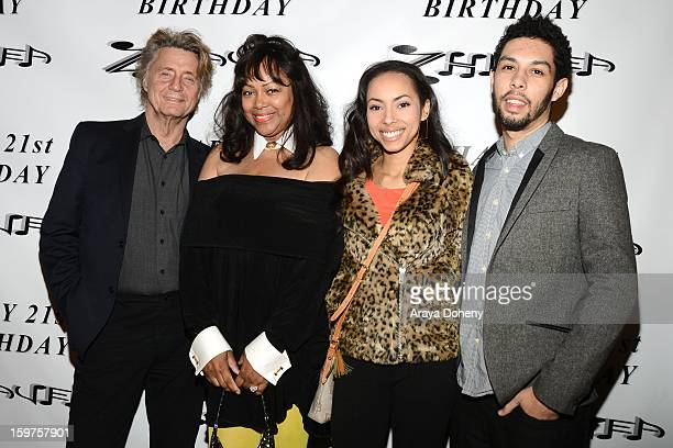 Shadoe Stevens Beverly Stevens and Chyna Rose Stevens attend Zhavea's 21st Birthday Bash At A Private Mansion In Hollywood event on January 19 2013...