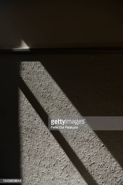 shadow and sunlight in an abandoned building at vevey, switzerland - high contrast stock pictures, royalty-free photos & images