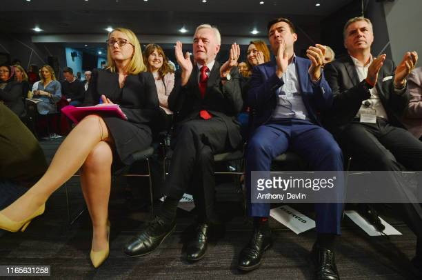 Shadow Business secretary Rebecca LongBailey Shadow Chancellor John McDonnell Mayor of Greater Manchester Andy Burnham and Metro Mayor of the...