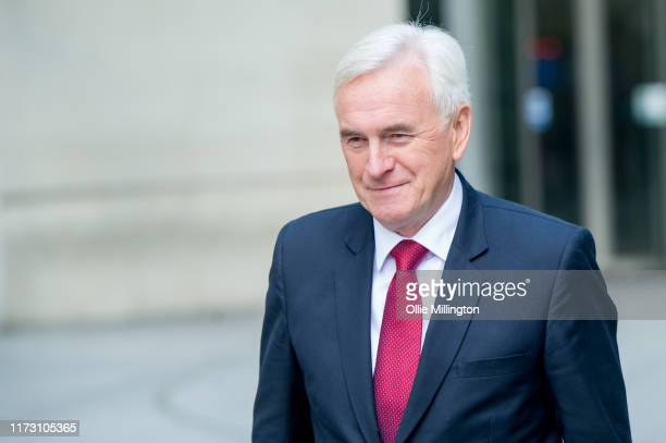 Shadow Chancellor and Member of Parliament for Hayes and Harlington John McDonnell at BBC Broadcasting House on September 8 2019 in London England