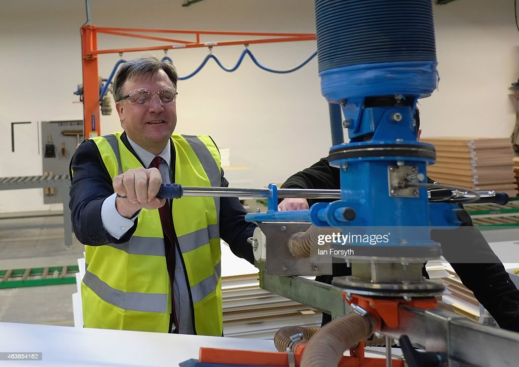 Ed Balls Visits The Cotswold Manufacturing Factory In Stockton-on-Tees : News Photo