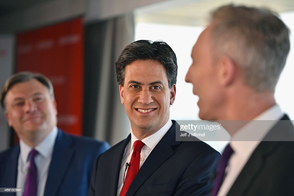 Ed Miliband And Jim Murphy Give A Joint Press Conference : News Photo