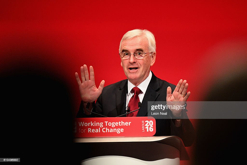 Shadow Chancellor John McDonnell Delivers His Keynote Speech To Labour Party Conference