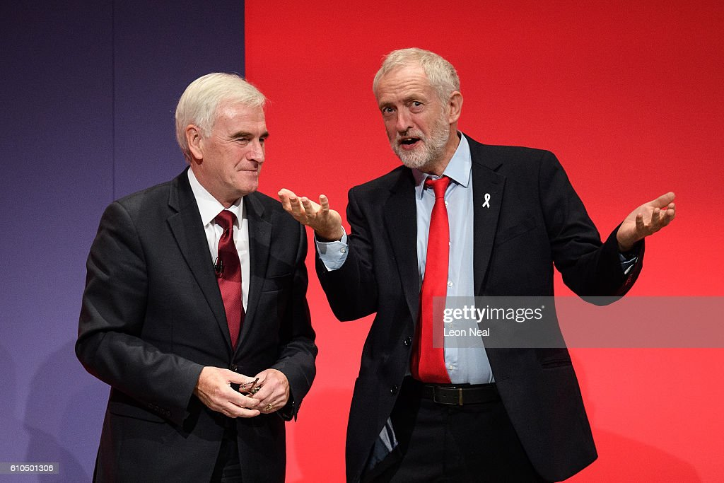Shadow Chancellor John McDonnell Delivers His Keynote Speech To Labour Party Conference : News Photo