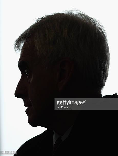 Shadow Chancellor John McDonnell meets with steelworkers and their families trade union officials and local MPs at the Tuned In Centre on October 5...