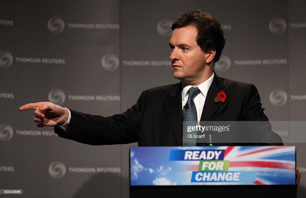 George Osborne Delivers A Speech On The UK's Economic Future : News Photo