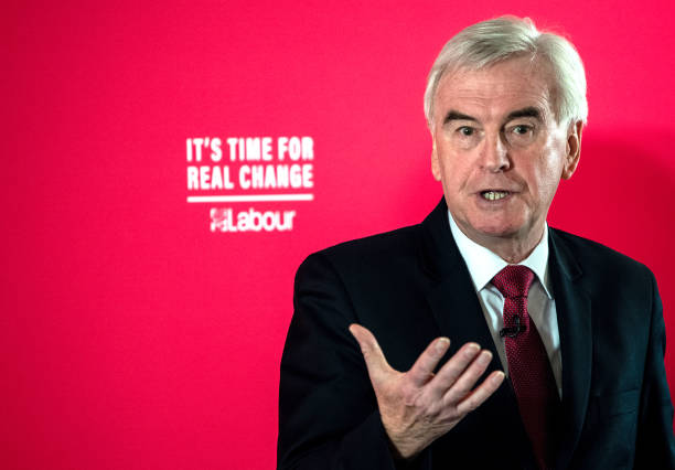 GBR: Labour MP John McDonnell Delivers Economic Policy Speech In London
