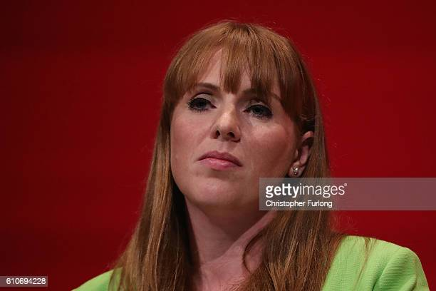 Shadow Education Secretary Angela Rayner delivers her keynote speech to delegates on September 27 2016 in Liverpool England On day three of the...